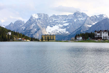 lake misurina: Lake Misurina in the Dolomites, Italy