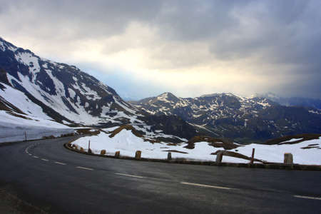 road at the  mountains,   Alps  photo