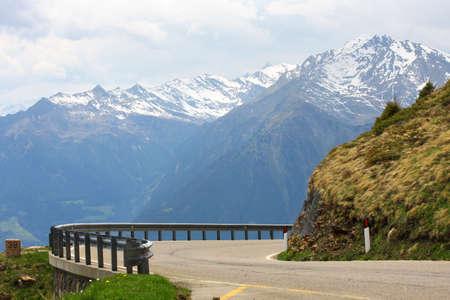 Timmelsjoch - high alpine road, Alps  photo