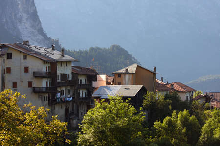 old italian village,  Alps