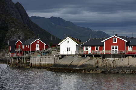 wooden house at the Lofoten archipelago, norway Stock Photo - 15524100