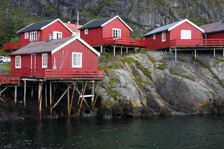 wooden house at the Lofoten archipelago, norway Stock Photo - 15524095