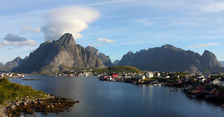 Lofoten archipelago  -  view on the Reine