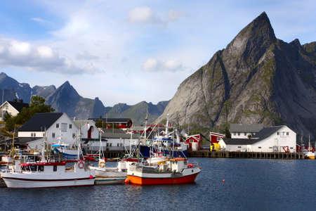 clear waters: view of Lofoten archipelago bay