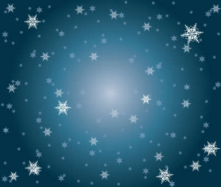 background made of blue snowlakes  Stock Vector - 17234967