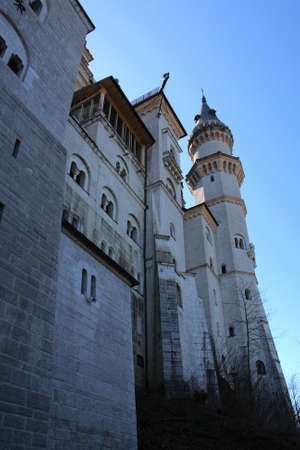 exterior of beautiful medieval palace Neuschwanstein, Bavaria, Germany