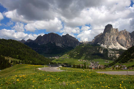 alpine village at the Dolomites, Italy