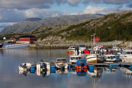 view of Lofoten archipelago bay  photo