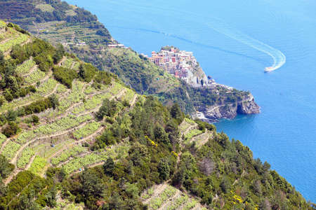 view of Cinque Terre region  photo