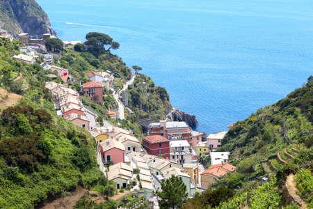view of Cinque Terre region village Riomaggiore  photo