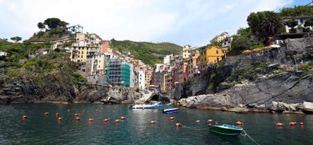 view of Cinque Terre region village Riomaggiore  photo
