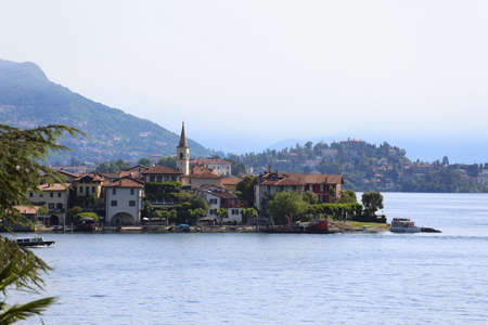 view of Lago Maggiore,  Italy  photo