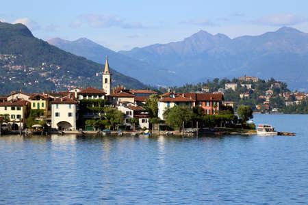 vue du lac Majeur, en Italie Banque d'images