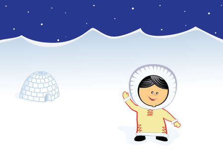 little Chukchi smiling girl vector image  Vector