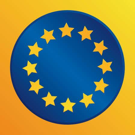 eu: European Union  EU flag vector icon