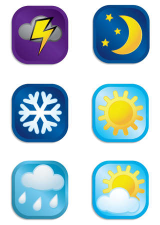 different weather vector icons set  Vector
