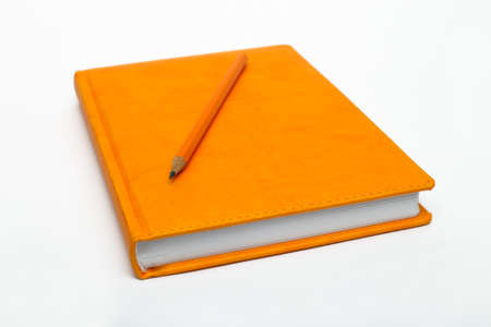 notebook on a white background, close-up  photo
