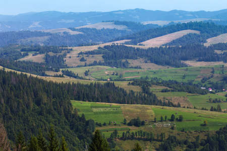 view of the mountains in Carpathians,  Ukraine   photo