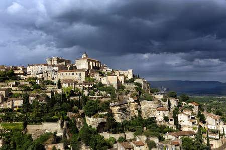 gordes: Gordes - famous  town at the france Stock Photo