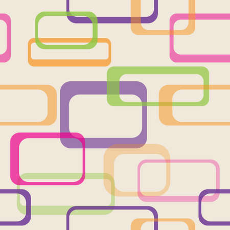 seamless background pattern made of multicolored rounded rectangles Illustration