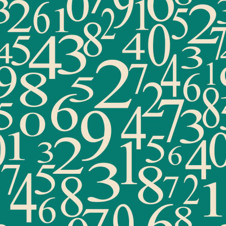 numerical: numerical seamless background with white digits on a green