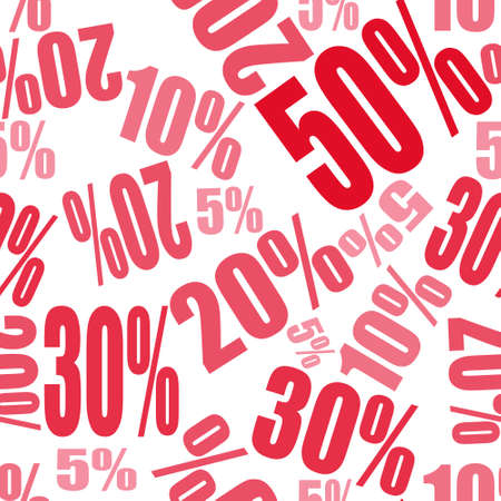 seamless pattern background with big sale percents off Illustration