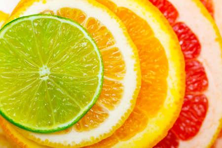Fond d'agrumes - citron vert, citron, orange, pamplemousse Banque d'images - 38615687