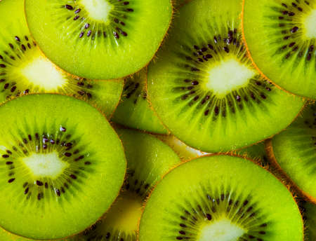 exotic fruits: Made with a heap of sliced kiwis