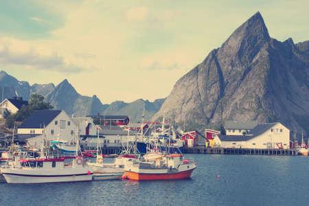 archipelago: view of Lofoten archipelago bay