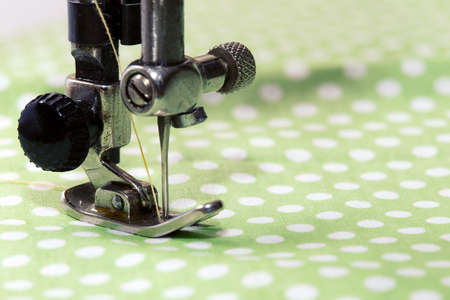 sewing pattern: sewing machine - sewing process in the phase of sewing