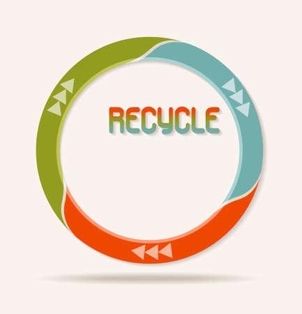 recycle logo: recycle logo icon made with red green and blue colours. EPS 10 Illustration
