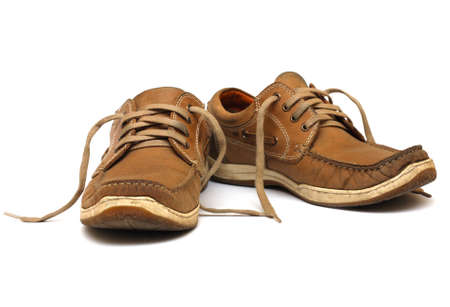 brogues: brown man shoes isolated on a white background