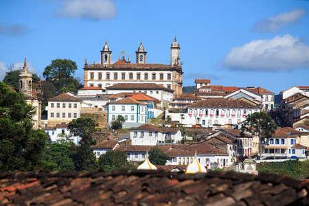vue sur la ville historique d'Ouro Preto, Minas Gerais, Brésil Banque d'images