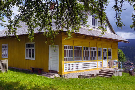 verandas: traditional Carpathians wooden house, Ukraine
