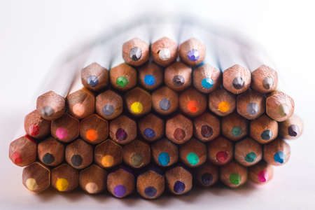 background made of macro shoot of colorful pencils
