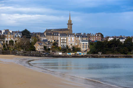 view of the famous French resort town Dinard on the shore of the ocean
