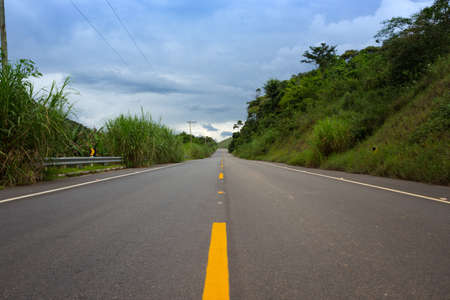 road trip. traditional tropical road Brasilia, Brazil