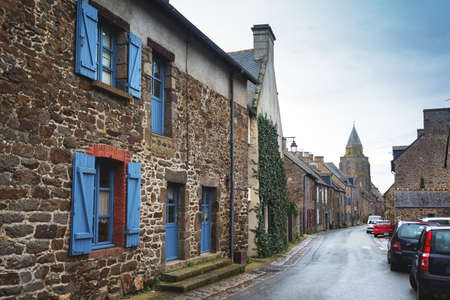 streets and facades at the most beautiful villages of france  - Saint-Suliac