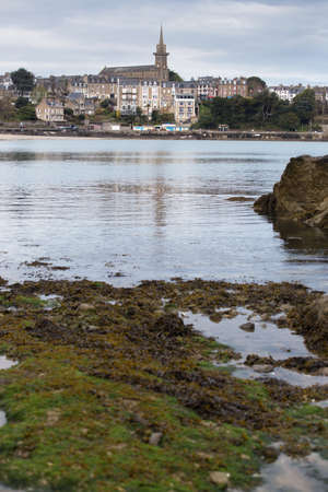 view of the famous French resort town Dinard on the shore of the ocean Archivio Fotografico