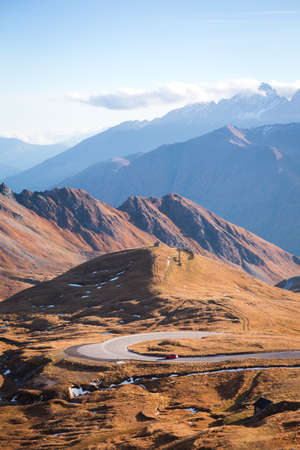 beautiful mountain landscape - The Grossglockner High Alpine Road, Brennkogel. High Tauern National Park