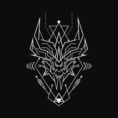 Abstract Geometric Demon Rune
