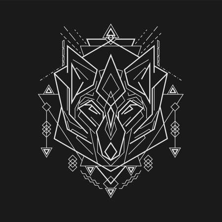 mythic fox line art style
