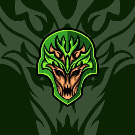 Green Woody for mascot, logo gaming or other