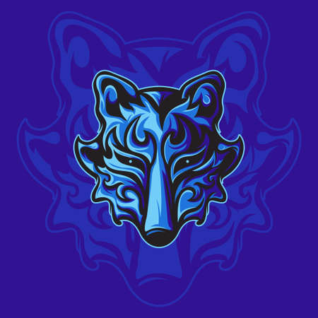 Mighty Blue Fox For sign, mascot gaming or other