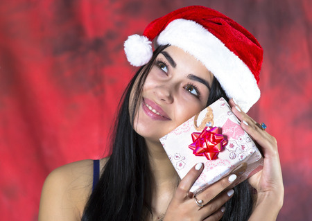 received: beautiful girl has received a gift