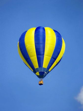 Hot air balloon fly in sky, image