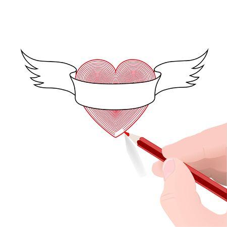 Valentines day card, vector illustration