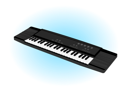 electronic keyboard, isolated, vector illustration Illustration