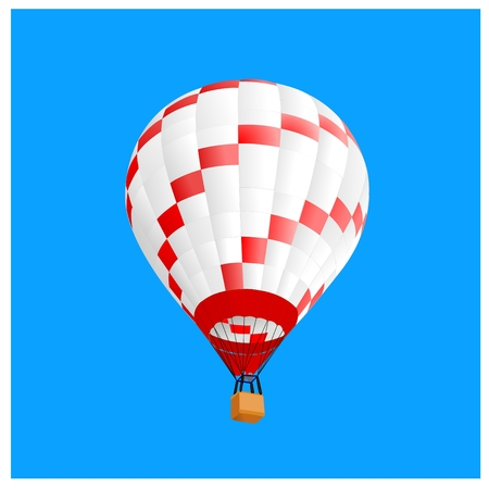 hot air ballon in sky, vector illustration Stock Vector - 6570527