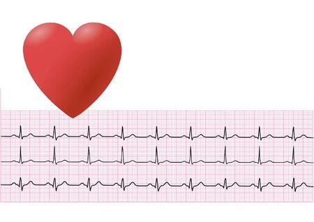 Heart and électrocardiographie Vecteurs